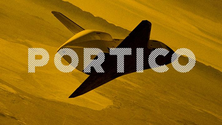 Portico tipografía vintage