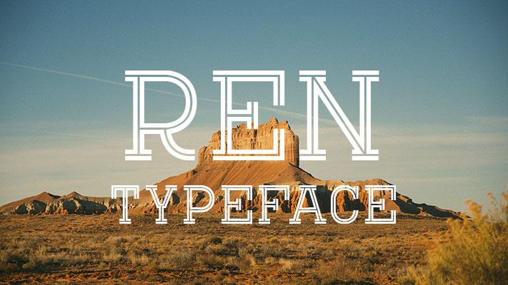 Ren tipografia vintage