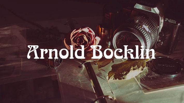 Arnold Bocklin tipografia vintage