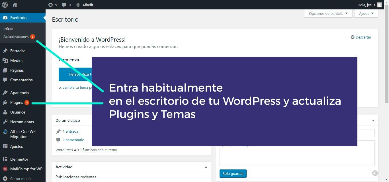 Actualiza-WordPress