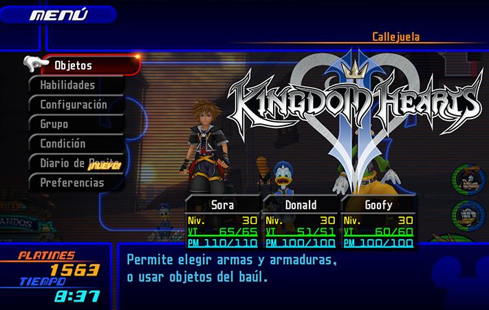 Kingdom Hearts II Logo y Juego